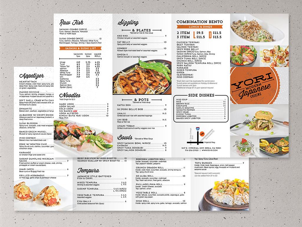 Yori modern japanese cuisine identity design for Design cuisine