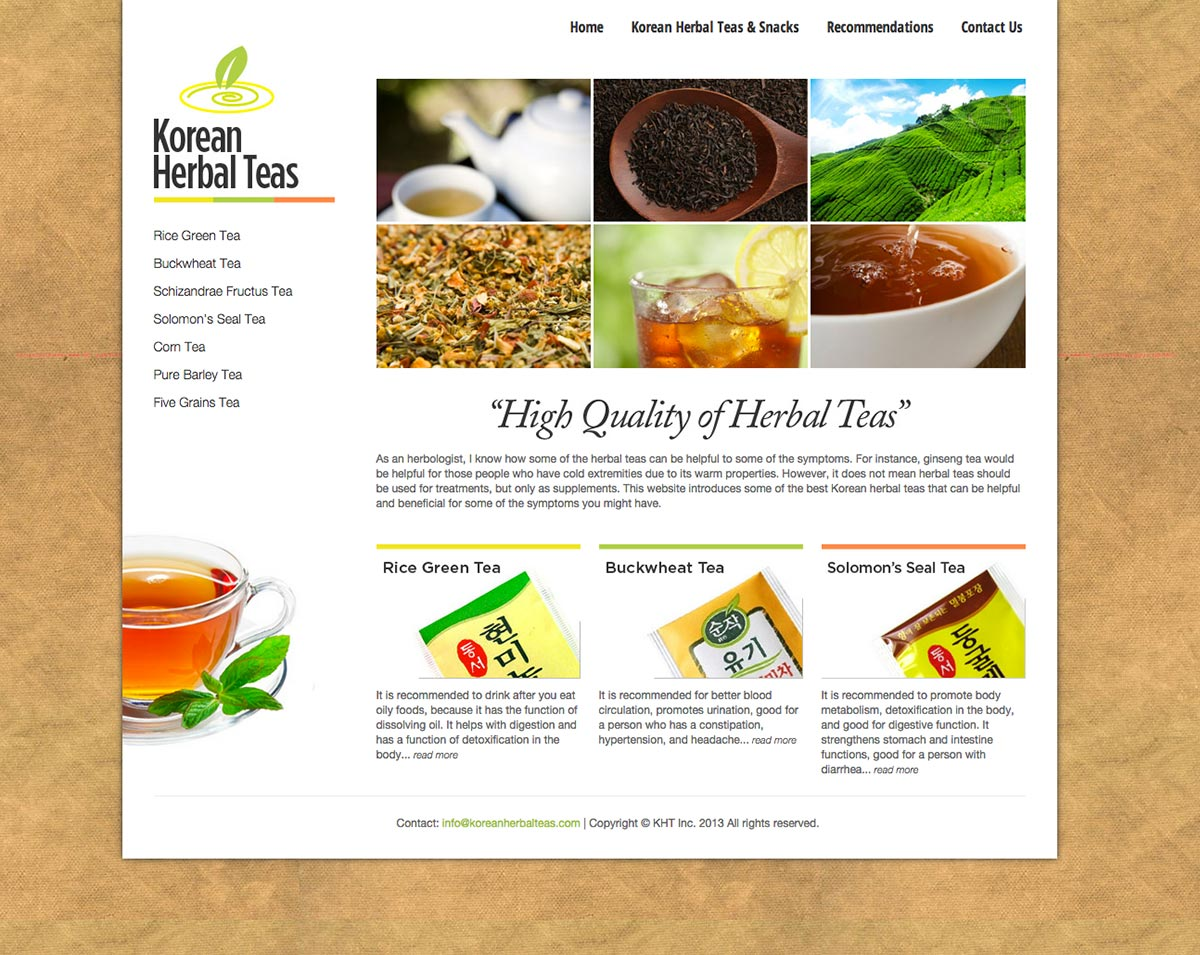 Korean Herbal Teas