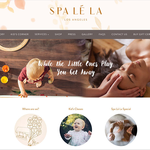 Spa Lé La Website Creation
